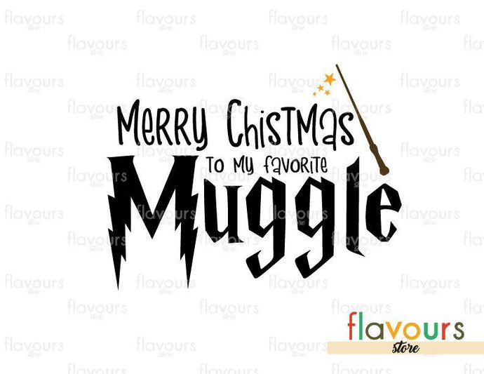 Merry Christmas To My Favorite Muggle - Harry Potter - Cuttable Design Files (Svg, Eps, Dxf, Png, Jpg) For Silhouette and Cricut
