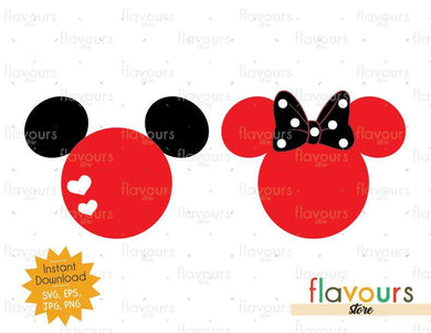 Mickey and Minnie - Instant Download - SVG Cut File