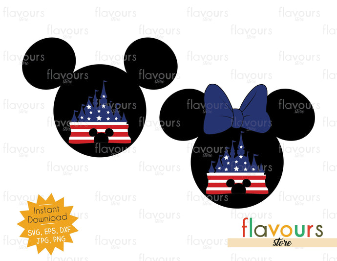 Mickey And Minnie Castle - SVG Cut File - FlavoursStore