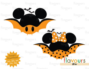 Mickey and Minnie Bat Ears - SVG Cut File