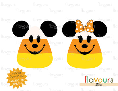 Mickey and Minnie Candy Corn - SVG Cut File