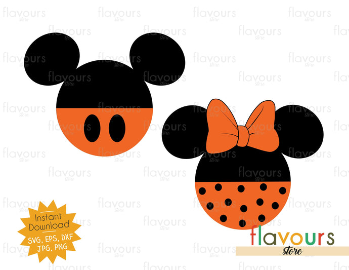 Mickey and Minnie Halloween Ears - SVG Cut File
