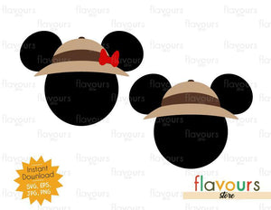 Mickey And Minnie Safari Hat - Animal Kingdom - SVG File