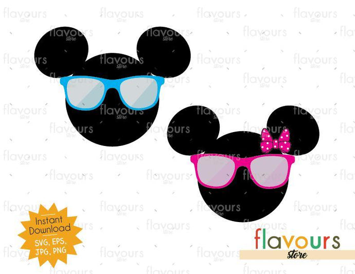 Mickey And Minnie Summer Inspired - Instant Download - SVG Cut File - FlavoursStore