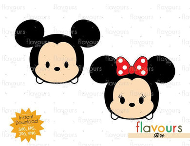 Mickey And Minnie Tsum Tsum - SVG Cut File