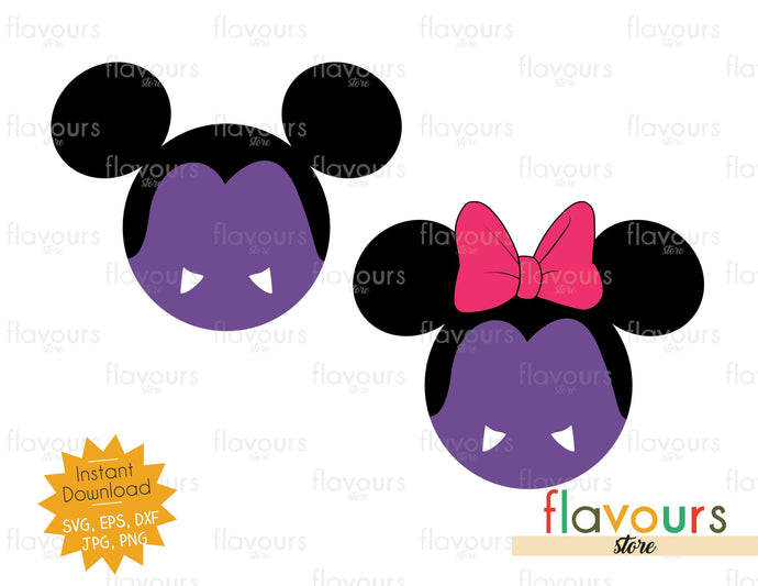 Mickey and Minnie Vampire Ears - SVG Cut File