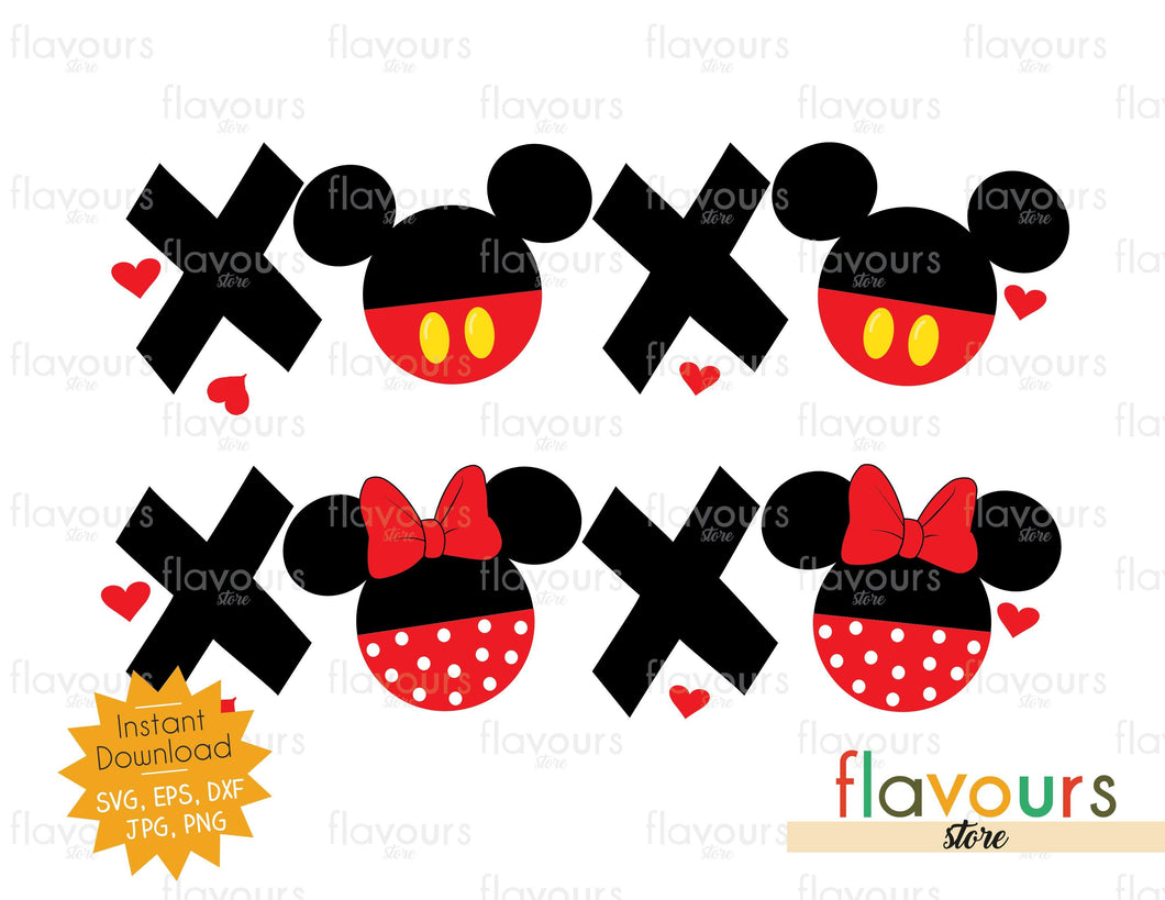 Mickey and Minnie XOXO Valentine's Day - SVG Cut File