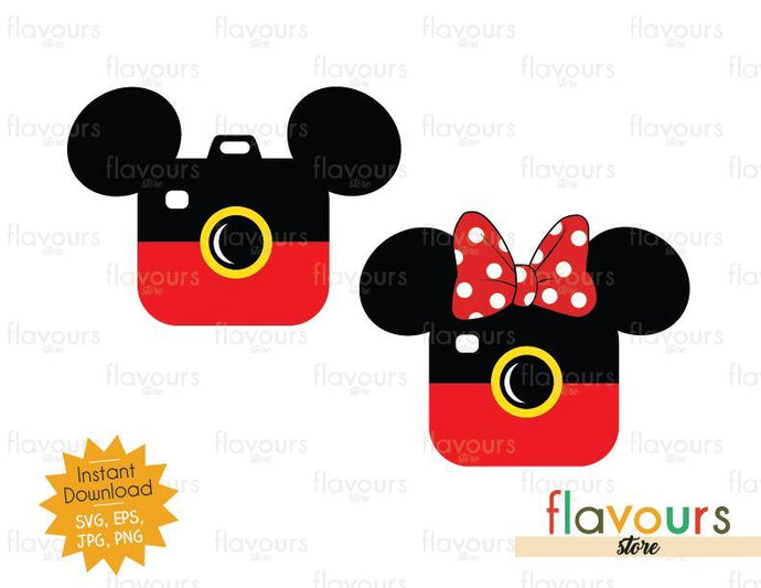 Mickey And Minnie Vacation Photo - Instant Download - SVG Cut File