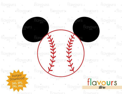 Mickey Baseball Ears - Instant Download - SVG Files