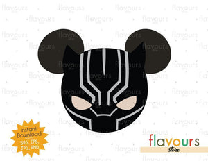 Black Panther Mickey Ears - Instant Download - SVG Cut File