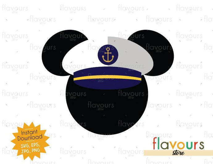 Mickey Captain - SVG Cut File