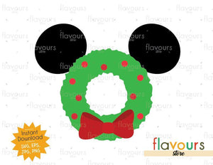 Mickey Christmas Wreath - Disney Christmas - Cuttable Design Files