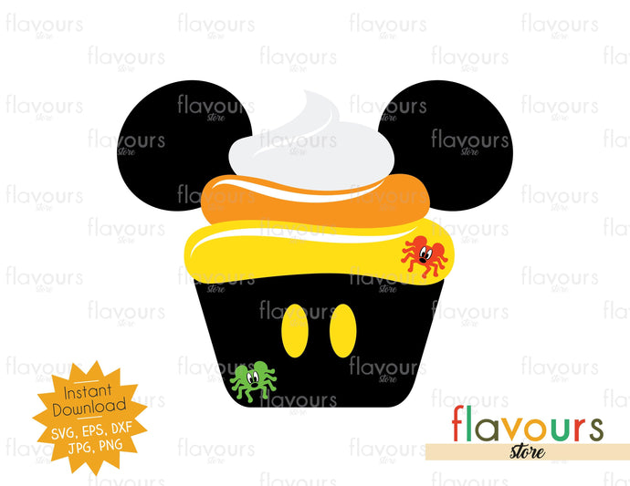 Mickey Cupcake Candy Corn - Disney Halloween - SVG Cut File