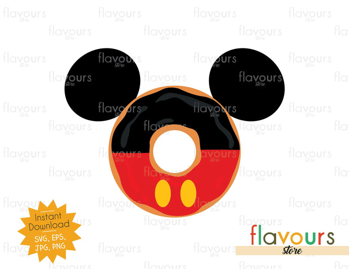 Mickey Donut Ears - Instant Download - SVG Cut File