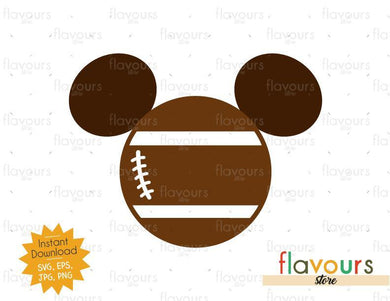 Mickey Football Ears - Instant Download - SVG Files