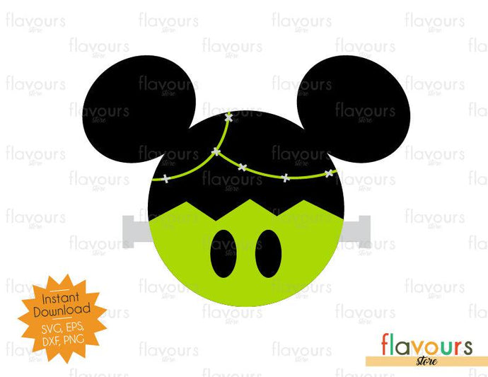Mickey Frankenstein Ears - Disney Halloween - SVG Cut File