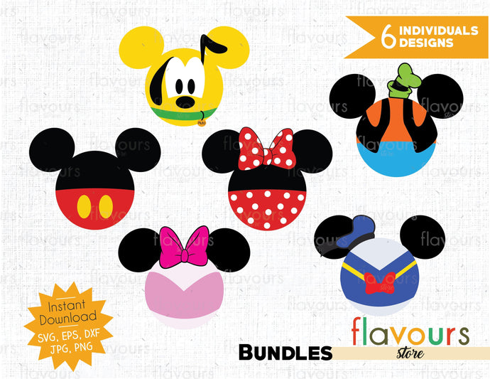 Mickey Friends Bundle - Instant Download - SVG Cut File