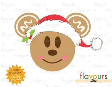 Mickey Gingerbread - Disney Christmas - Cuttable Design Files (SVG, EPS, JPG, PNG) For Silhouette and Cricut