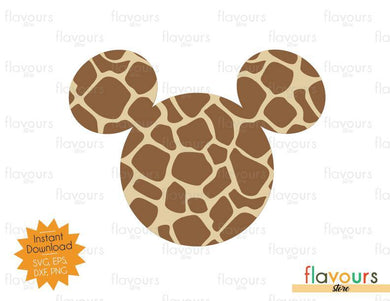 Mickey Giraffe Pattern - SVG Cut Files