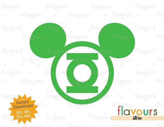 Green Lantern Ears - Instant Download - SVG Cut File