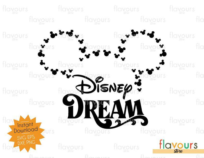 Mickey Heads Outline Disney Dream - Disney Cruise - SVG Cut File - FlavoursStore