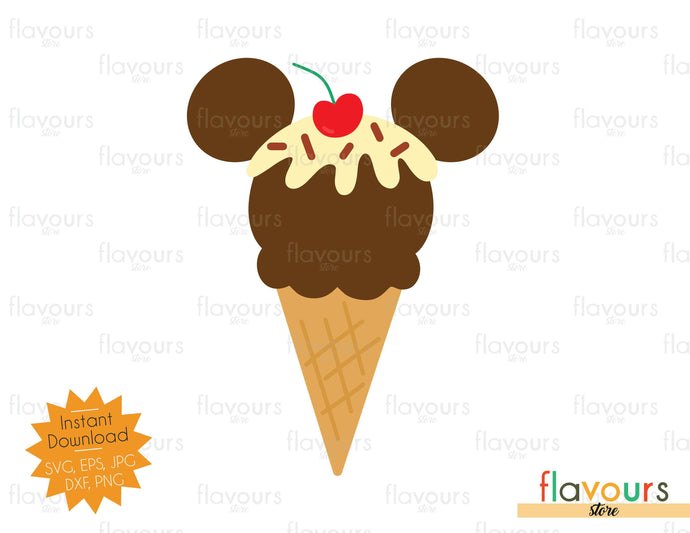 Mickey Ice Cream - SVG Cut File