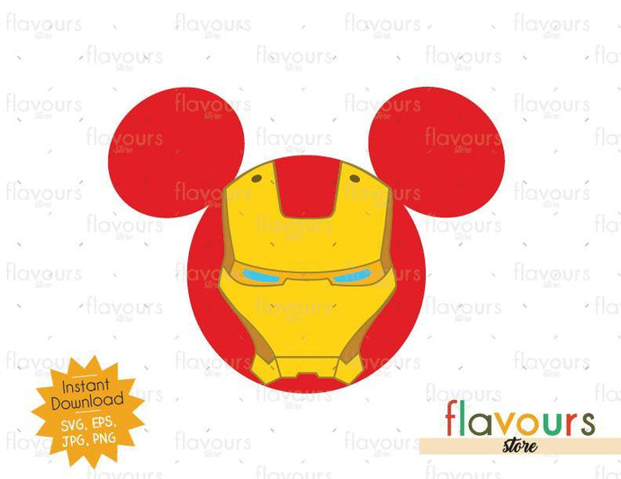 Iron Man Ears - Instant Download - SVG Cut File - FlavoursStore