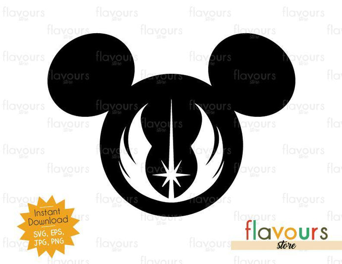 Mickey Jedi Order - Star Wars - Cuttable Design Files - FlavoursStore