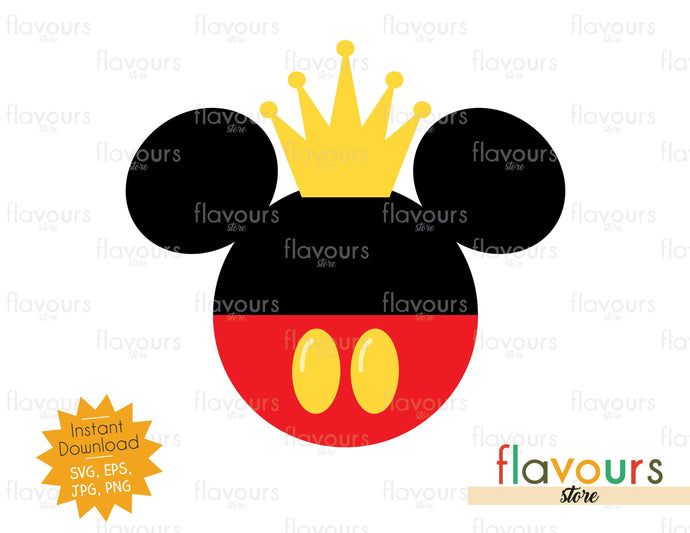 Mickey King - Instant Download - SVG Cut File