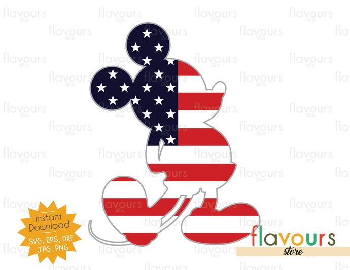 Mickey Mouse American Flag - SVG Cut File