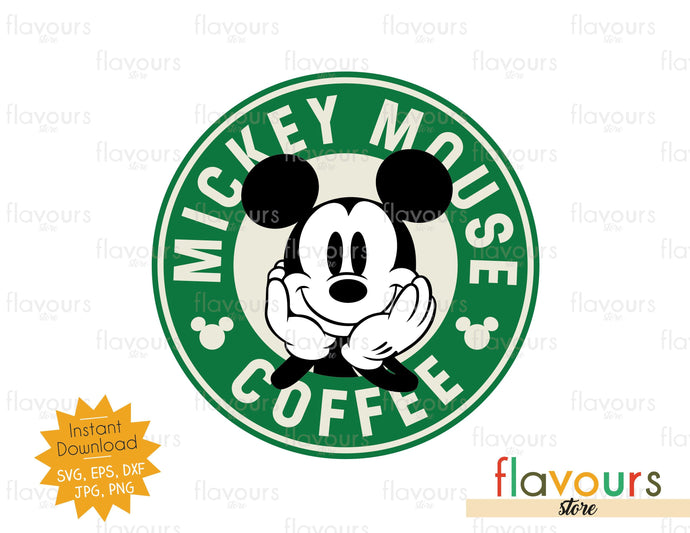 Mickey Mouse Coffee - SVG Cut File