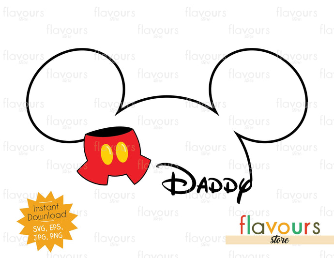 Daddy Mickey Silhouette - Instant Download - SVG Cut File - FlavoursStore