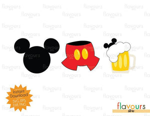 Mickey Pants Beer - Disney Epcot - SVG Cut File