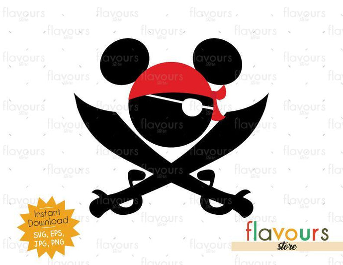 Mickey Pirate - Instant Download - SVG Cut File