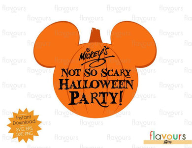 Mickey Party Pumpkin - Halloween - SVG Cut Files