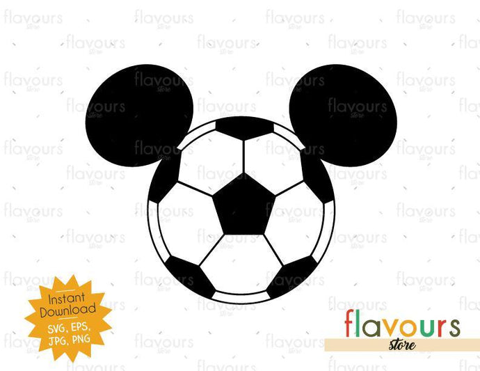 Mickey Soccer Ears - Instant Download - SVG Files