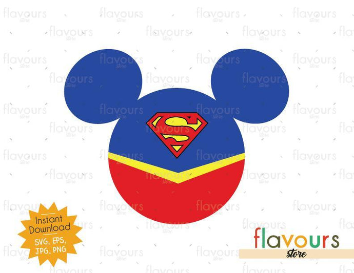 Superman Ears - Instant Download - SVG Cut File