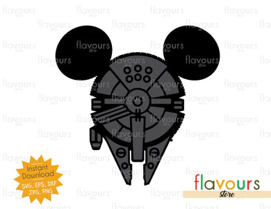 Millennium Falcon Ears - Star Wars - Cuttable Design Files