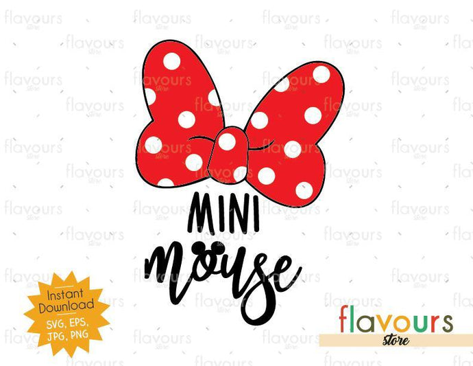 Mini Mouse - Minnie Bow - Instant Download - SVG Cut File