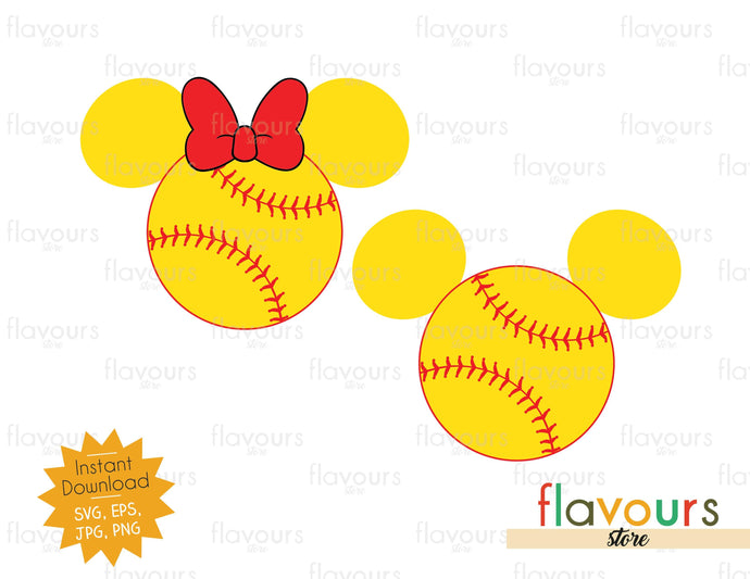 Mickey and Minnie Baseball Ears - Cuttable Design Files