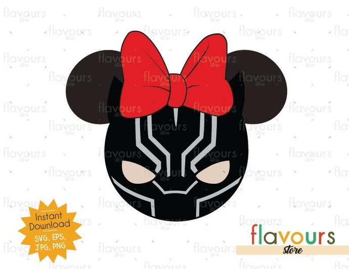 Black Panther Mnnie Ears - Instant Download - SVG Cut File