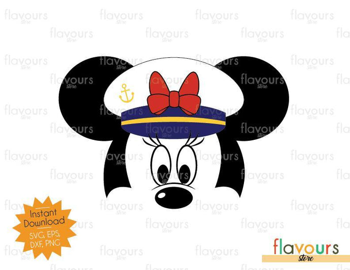 Minnie Captain - Disney SVG - SVG Cut File