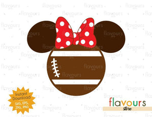 Minnie Football Ears - Instant Download - SVG Files