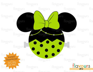 Minnie Frankenstein Ears - Disney Halloween - SVG Cut File