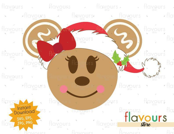 Minnie Gingerbread - SVG Cut File