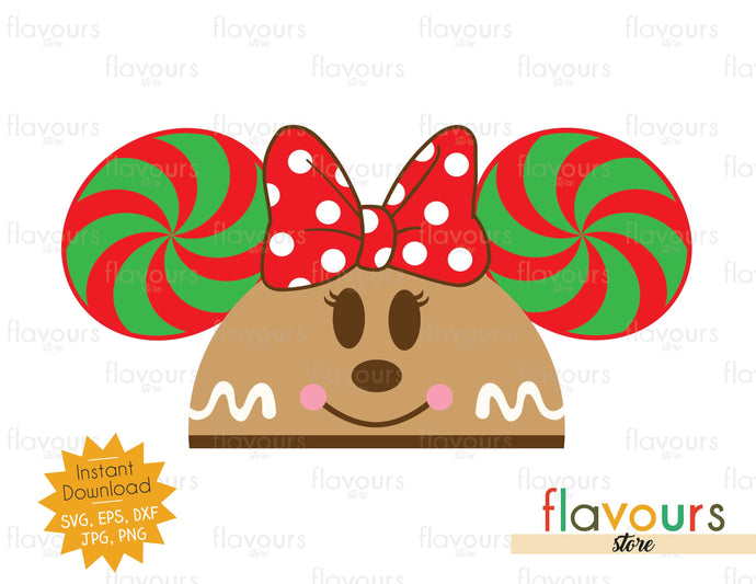 Minnie Gingerbread Hat Ears - Disney Christmas - Cuttable Design Files