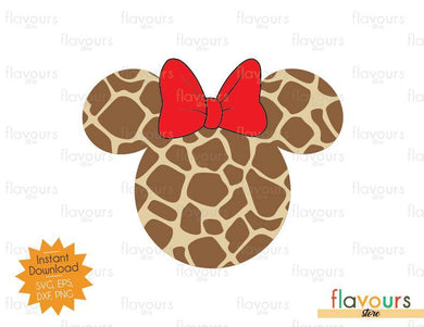 Minnie Giraffe Patern - SVG Cut Files