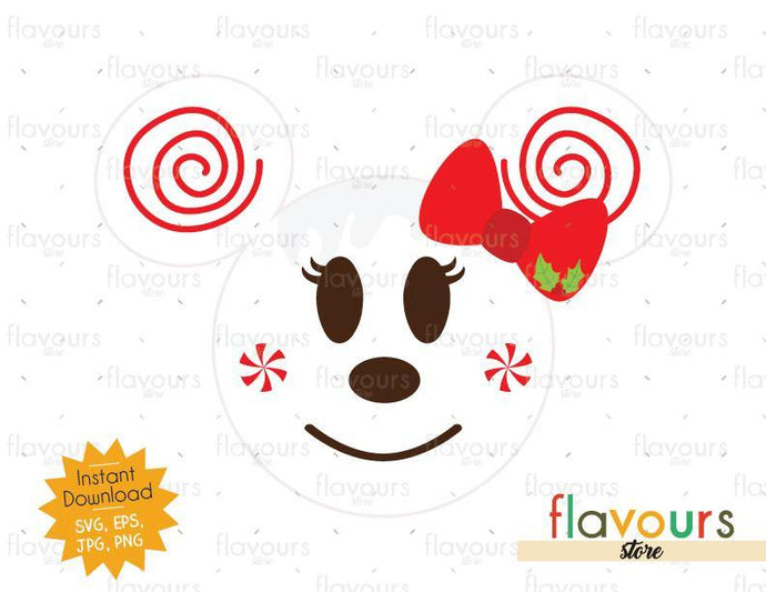 Minnie Holiday Candy - SVG Cut File