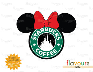 Minnie Mouse Starbucks - Instant Download - SVG Cut File