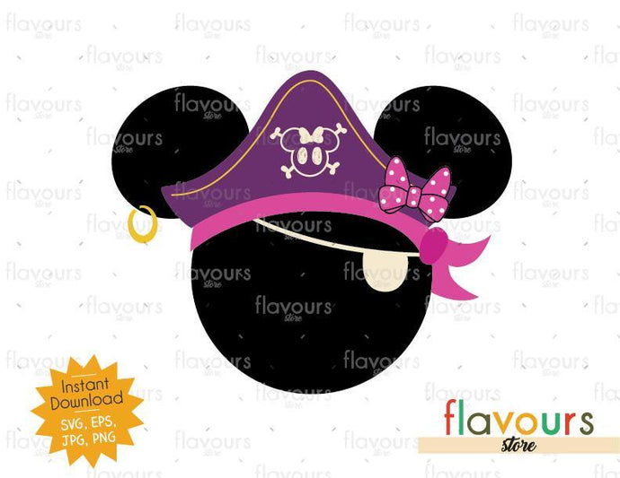 Minnie Pirate Hat - Instant Download - SVG Cut File